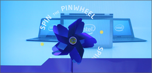Intel Ultrabook Tree & Interactive Pinwheels